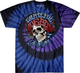 Liquid Blue Unisex-Adult's Grateful Dead Boston Music Hall Spiral Tie Dye SS T-Shirt Small