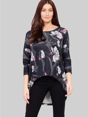 M&Co Izabel floral high low jumper