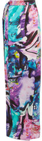 Matthew Williamson Printed Silk Crepe De Chine Wrap Maxi Skirt