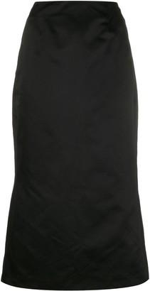 Olivier Theyskens Back Slit Fitted Skirt