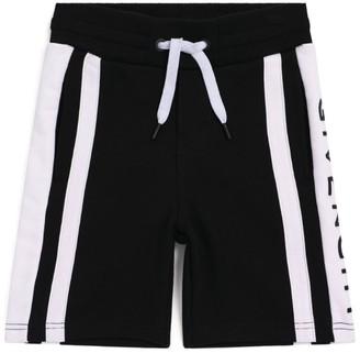 Givenchy Kids Logo Stripe Sweatshorts