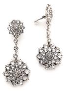 Oscar de la Renta Classic Jeweled Drop Earrings
