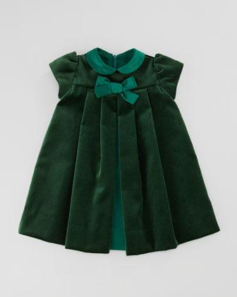 Florence Eiseman Velvet Bow Dress, 3-9 Months