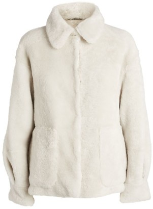 Brunello Cucinelli Reversible Faux Shearling Padded Jacket