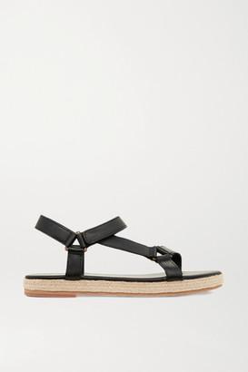 ST. AGNI + Net Sustain Sportsu Leather Sandals - Black