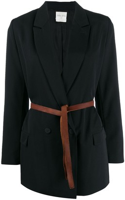 Forte Forte belted double-breasted blazer
