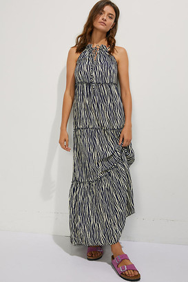Maaji Expedition Cover-Up Maxi Dress By in Blue Size M