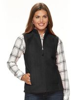 Croft & Barrow Petite Quilted Fleece Vest
