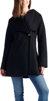 Laundry by Shelli Segal Black Single-Button Wool-Blend Jacket