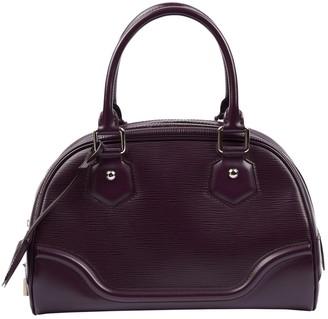 Louis Vuitton Montaigne Purple Leather Handbags