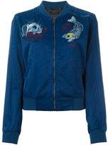 Diesel embroidered skull bomber jacket