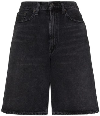 AGOLDE Knee-Length Denim Shorts