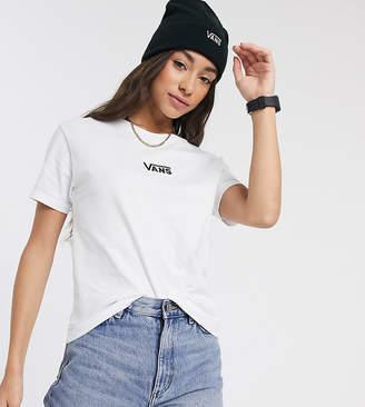 Vans Rainbox Stitching Boxy t-shirt in white Exclusive at ASOS
