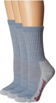 Smartwool Hike Light Crew 3-Pair Pack (Blue Steel) Women's Crew Cut Socks Shoes
