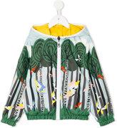 Fendi printed reversible jacket - kids - Polyester - 6 yrs