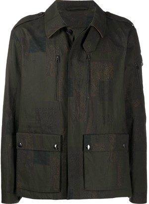 Etro Paisley-Print Military Jacket