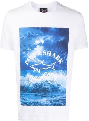 Paul & Shark graphic print logo T-shirt