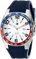 Tommy Hilfiger Men's 1790885 Sport Stainless Steel Bezel Blue Silicon Strap Watch