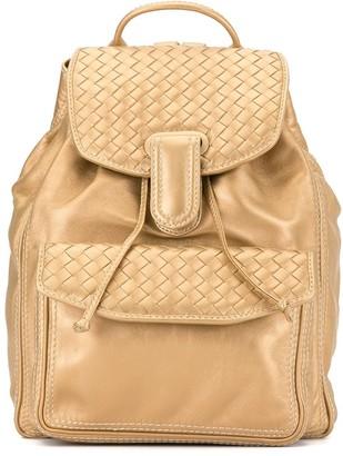 Bottega Veneta Pre Owned Intrecciato Weave Backpack