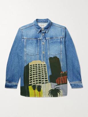 Loewe Ken Price LA Series Printed Denim Jacket - Men - Blue