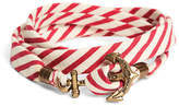 Brooks Brothers Kiel James Patrick Red and White Seersucker Lanyard Hitch Cord Bracelet