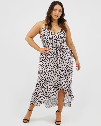 You & All Animal Print Wrap Maxi Dress