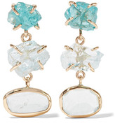 Melissa Joy Manning 14-karat Gold, Aquamarine And Apatite Earrings - one size