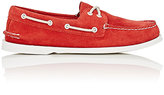 "Sperry MEN'S ""AUTHENTIC ORIGINAL\"" SUEDE BOAT SHOES-RED SIZE 10 M"