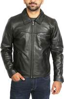 House of Leather Mens Real Leather Jacket Heavy Duty Full Grain Zip Box Classic Coat Clint