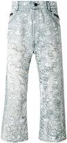 Unconditional floral distressed jeans - men - Cotton - XS