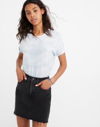 Madewell Stretch Denim Straight Mini Skirt in Ashcraft Wash: Raw-Hemmed Edition