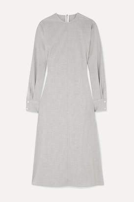 Peter Do - Belted Cady Midi Dress - Gray