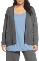 Eileen Fisher Plus Size Women's Slouchy Tencel Blend Cardigan
