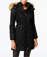 Jones New York Faux-Fur-Trim Quilted Down Coat
