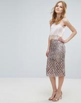 Glamorous Beaded Pencil Skirt