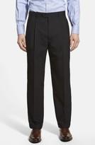 Linea Naturale Men's Pleated Wool Dress Pants