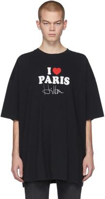 Vetements SSENSE Exclusive Black I Love Paris T-Shirt