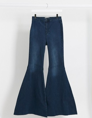 We The Free by Free People Just Float On high waist flare jeans in indigo