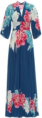 Etro Floral silk gown