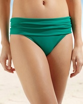 Soma Intimates Shirred Hipster Swim Bottom Emerald