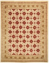 Safavieh Classics Collection CL303N Handmade Ivory and Dark Red Wool Area Rug, 7-Feet 6-Inch by 9-Feet 6-Inch