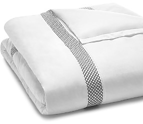 Hudson Park Collection 500TC Embroidered Geo Duvet Cover, King - 100% Exclusive