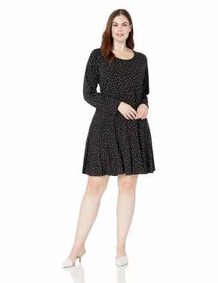 Karen Kane Women's Plus Size Dakota DOT Print Dress 1X