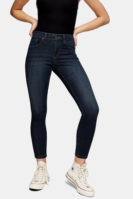 Topshop Womens Petite Indigo Leigh Jeans - Indigo