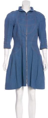 Chanel Denim Zip Dress