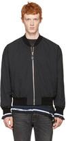 Maison Margiela Black Quilted Front Bomber Jacket