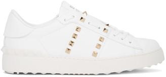 Valentino White Garavani Rockstud Untitled Open Sneakers