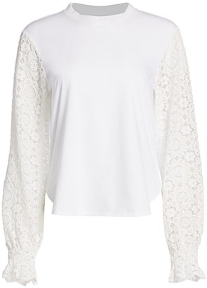 See by Chloe Lace-Sleeve Blouse