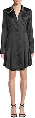 A.L.C. Rora Silk Button-Front Shirtdress