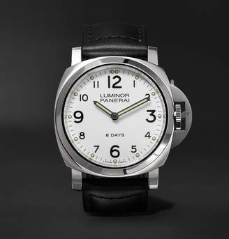 Panerai Luminor Base 8 Days Acciaio 44mm Stainless Steel And Leather Watch
